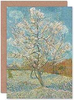 Van Gogh gratulationskort med rosa persikoträd