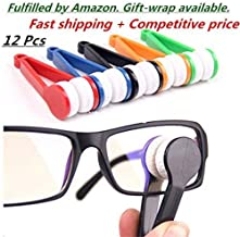 10 Pcs Mini Sun Glasses Eyeglass Microfiber Spectacles Cleaner Soft Brush Cleaning Tool Mini Microfiber Glasses Eyeglasses Cleaner Cleaning Clip (Random Color)