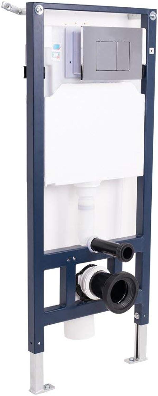 Aquariss Bathroom Concealed Wall Hung Steel Toilet WC Frame + Cistern + Chrome Dual Flush Plate