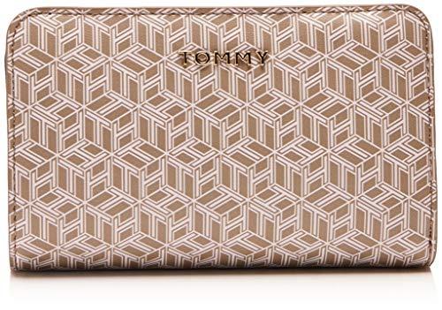 TOMMY HILFIGER Damen Portemonnaie Iconic MED Half ZA Mono weiß One Size