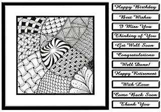 zia001Zentangle inspirado arte Tarjeta–Muchas Ocasiones por Margaret Jones