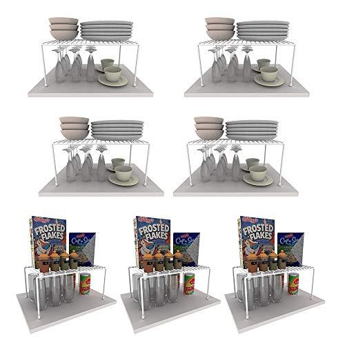 Kit Organizador Aramado Armário Cozinha 4 Grandes 3 Médios