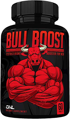 Bull Boost Testosterone Booster for Men - Enlargement Supplement - Increase Size, Strength, Stamina - Energy Enhancing, Mood, Endurance Boost - Natural Male - 1 Month Supply - Made in USA