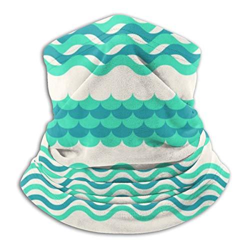 Akhy Multifunctional Headwear Face Mask Headband Neck Gaiter Sea Waves Balaclava for Men and Women