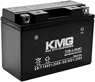 KMG YT9B-4-BS Battery For Yamaha 700 YFM70R Raptor 2006-2012 Sealed Maintenance Free 12V Battery High Performance SMF OEM Replacement Powersport Motorcycle ATV Snowmobile Watercraft
