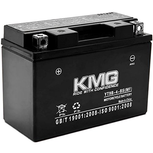 KMG YT9B-4-BS Battery For Yamaha 400 YP400 Majesty 2004-2012 Sealed Maintenance Free 12V Battery High Performance SMF OEM Replacement Powersport Motorcycle ATV Snowmobile Watercraft