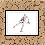 Erti567an Rugby Joueur de rugby Wordle Rugby Word Collage Rugby Wall Art Rugby Coach Cadeau Six Nations Rugby Word Art