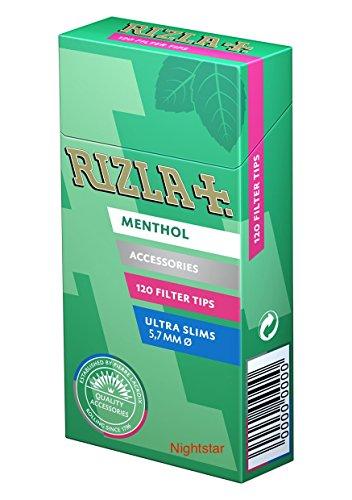 rizla filtri 5,7 mm poppatips menta - 20 pacchetti