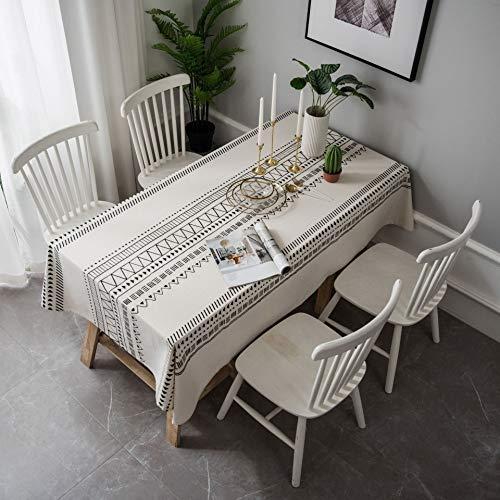 Mantel de algodón Cubierta de Polvo Mantel diseño de Rayas Bohemias para Sala de Estar decoración del hogar S5 140x200cm