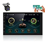 UNITOPSCI Double Din Android 10.1 Car Stereo with Bluetooth 7 Inch Touch Screen with GPS Navigation WIFI/FM Radio MP5 Player Support IOS/Android Phones Mirror Link Steering Wheel Control Backup Camera