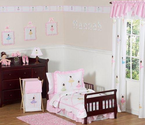 Sweet Jojo Designs 5-Piece Ballet Dancer Ballerina Toddler Girl Bedding Set