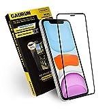 [GAURUN ガウラン] iPhone 11/XR 用 ガラスフィルム (1枚入り) [iPhone11用ガイドツール付] 日本製旭硝子採用 硬度9H フルカバー 傷防止 指紋防止 耐衝撃 強化ガラス 液晶保護フィルム シート 4D プライムネット