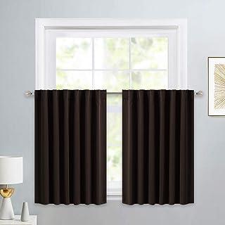 PONY DANCE Short Window Curtains – Back Tab Valances Home Decor Small Panels Light..