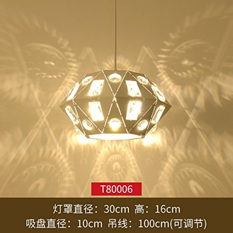 BESPD Modernes, minimalistisches Kreative Nordic Schlafzimmer Esszimmer Kronleuchter Deckenlampe Hngeleuchte dunkelgrünem T 80006 +9 W Glühbirne