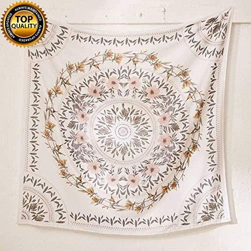 meijiago SROOD - Tapiz bohemio para colgar en la pared, diseño de mandala india, para dormitorio, sala de estar, dormitorio, decoración del hogar, 150 cm x 200 cm, color blanco