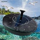 Solar Fountain Pump 1.5W for Bird Bath, Small Pond, Fish Tank, Patio, Garden