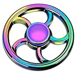 ATESSON Fidget Spinner Toy Ultra Durable Stainless Steel High Speed Bearing Metal Hand Spinner EDC ADHD Focus Anxiety Stress Relief Boredom Killing Time Toys for Adults Kids