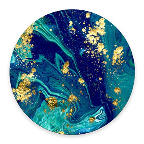round mouse mat blue marble