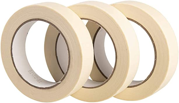HIGH QUALITY BRAND NEW 1 Roll Of Masking Tape 25mm x 50M Strong Painting Tape