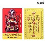 Baifeng 2020 - Tarjetas de amuleto para cama de monedero (5 unidades, 54 x 87 mm)