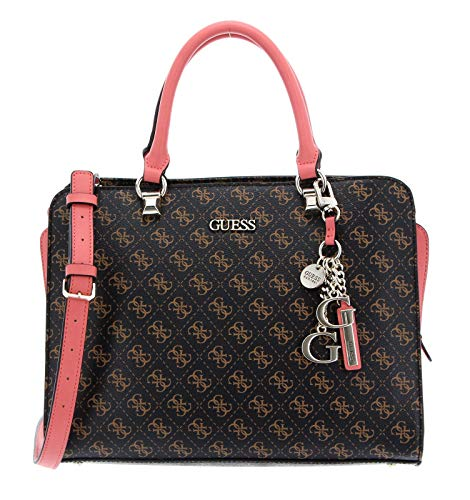 Guess CAMY LARGE GIRLFRIEND SATCHEL, Bags Donna, BROWN MULTI, One Size