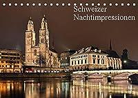 Schweizer Nachtimpressionen (Tischkalender 2022 DIN A5 quer): Fotos aus der naechtlichen Schweiz (Monatskalender, 14 Seiten )