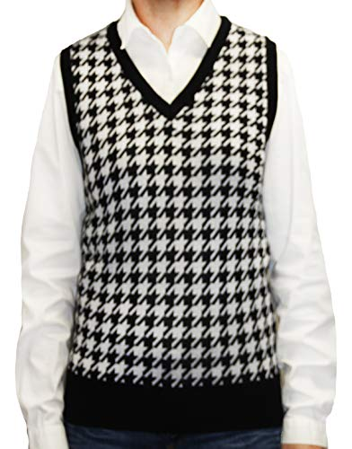 Houndstooth Sweater Vest Men