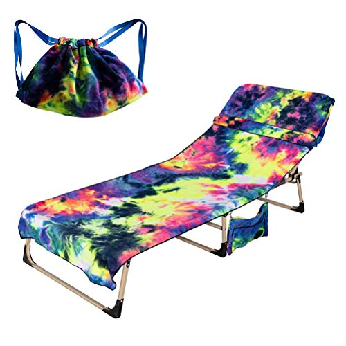 Yorimi Strandtuch, bedruckt, Strandtuch, Aufbewahrungstasche mit Kordelzug, Strandbezug, Strandtuch, Rucksack, Badetuch für Sommer und Outdoor dunkelblau