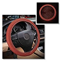 NASHDZ 通気性スキッドプルーフカーステアリングホイールカバー、VWポロセダンに適合ジェッタトヨタカローラサーブ9395ルノーダチアダスター2020