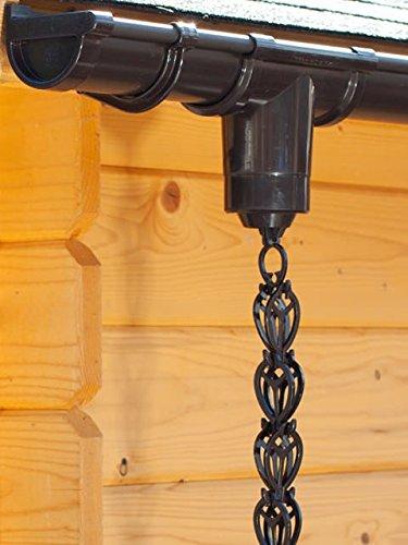 Regen-Ablaufkette DN 60, 250 cm lang, aus Kunststoff braun