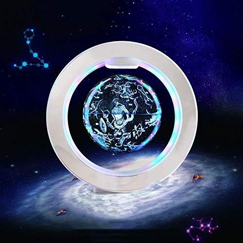 Mnjin Explore The World Beleuchteter Sternbild-Globus Weltkugel mit Ständer, Nachtlicht und Sternbild für Kinder Startseite Schlafzimmerdekorationen Kindergeburtstagsgeschenke, 6 Zoll, Model