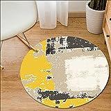 alfombra habitacion cuadro decoracion habitacion Alfombra amarilla BEIGE, redonda, para sala de estar, mesa de centro, dormitorio, mesita de noche, alfombrilla para piso cuadro decoracion salon 80x80c