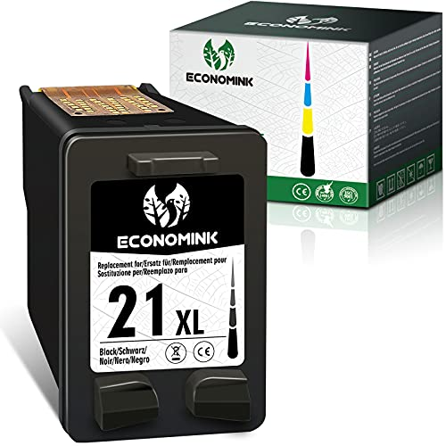 Economink Cartucho de tinta remanufacturado de repuesto para HP 21 XL negro para usar con Deskjet F380 PSC 1410 Officejet 5610 F4180 F300 F2180 F2280 F370 F375 D1460 3940 D1560 4315 F 2224 Impresora