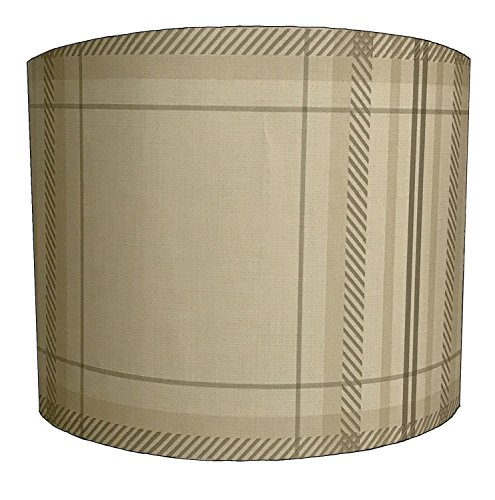 DELPH DESIGN LIGHTING LTD 30,5cm Check Linen lampshade for A Table Lamp