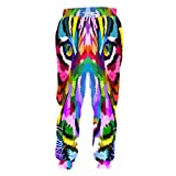 Autunno Uomo Donna Moda Pantaloni Stampa 3D Pantaloni Tigre Colorati Pantaloni Sportivi Larghi Hip Hop Tiger S