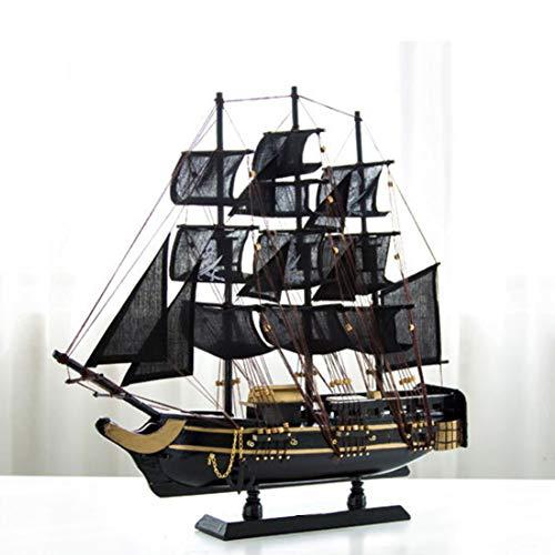GEEFSU-Negro Perla Nave Madera Modelo de Barco de Navegación Naves Kits de Juguete de Regalo Decoración de Vela Modelo Kit