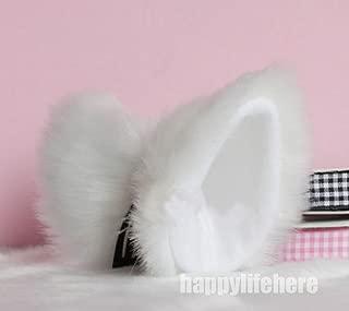 Hot Sweet Lovely Anime Lolita Cosplay Fancy Neko Cat Ears Hair Clip White