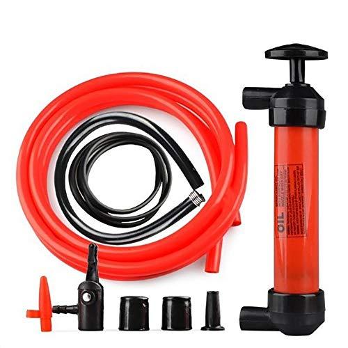 DEDC 1 Set Auto Pompa a Sifone Aspirazione Manuale con Ugelli Aria Pompa Olio Manuale con 2 Tubi per Olio Liquidi in Emergenza Pompe Carburante
