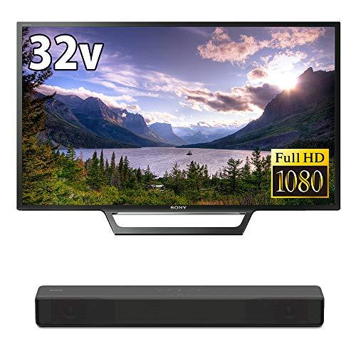 ソニー SONY 32V型 液晶 テレビ ブラビア KJ-32W730E フルハイビジョン 2017年モデル(サウンドバー HT-S200F 2.1ch 内蔵サブウーファー Bluetooth ホームシアターシステム HT-S200F B (2018年モデル) 付)