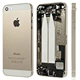 BEST2MOVIL Couverture DE Chassis + Couvercle de la Batterie Compatible avec Pieces DE Blanc Apple IPHONE d'or 5S