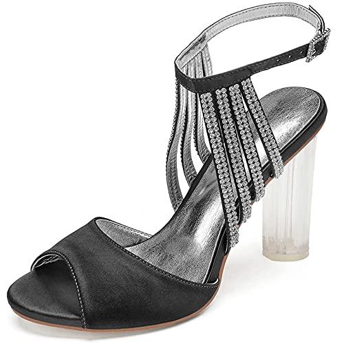ZJHTK Sexy Novia Zapatos Boda, Mujeres Diamantes Imitación Zapatos Novia, Moda Peep...