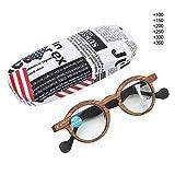 Gafas de lectura, material para PC Gafas presbiópicas progresivas multifocales Gafas de lectura con bloqueo de luz azul para hombres Mujeres(+2.5)