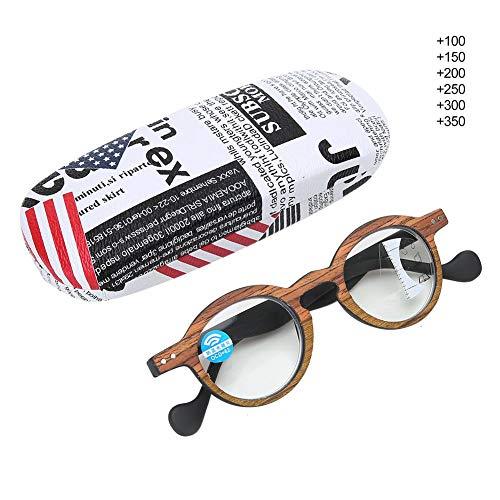 Lesebrille, PC-Material Multifokale progressive presbyopische Brille Blaulicht blockierende Lesebrille für Männer Frauen(+2,5)