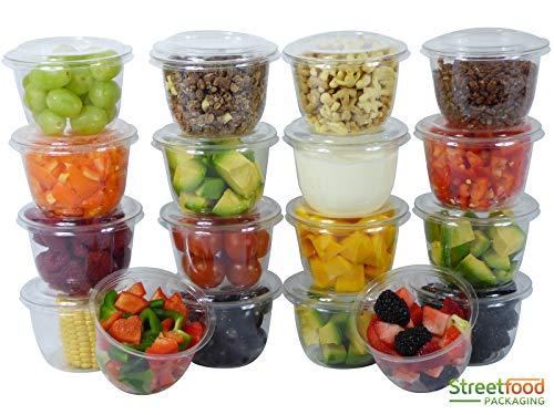 400 Pcs Reusable Deli Containers With Lids [8oz, 200 SET] - Freezer Containers With Lids - Meal Prep Containers, Food Storage - Reusable Food Containers by Streetfood Packaging [200 SET, 8oz, 230ml]