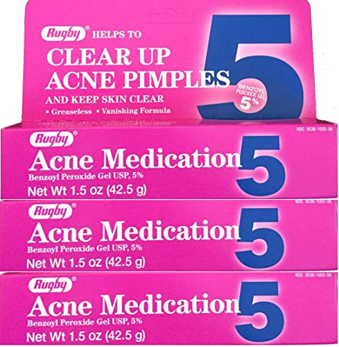 Benzoyl Peroxide 5 % Generic for Oxy Balance Acne Medication Gel 1.5 oz 3 PACK