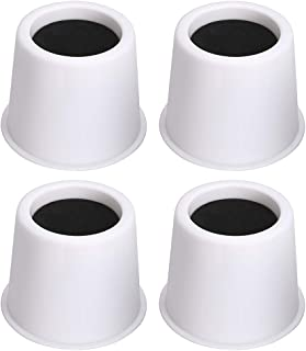 OwnMy Round Circular Bed Risers Heavy Duty Furniture Risers Lifter for Bed Table Chair Sofa, Set of 4 (3