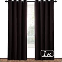 NICETOWN Blackout Room Darkening Curtain Panel - (Toffee Brown Color) Window Treatment Panel for Home Theater, Noise Reducing Drape/Drapery, 52 inches Wide by 84 inches Long, 1 Piece