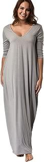 Plus Size Hippie Women 3/4 Sleeve/Sleeveless Low V Neck Maxi Long Dress with Pocket