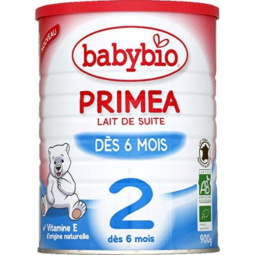Babybio - Lait de suite en poudre, dès 6 mois - Primea - la boite de 900 g - (for multi-item order extra postage cost will be reimbursed)