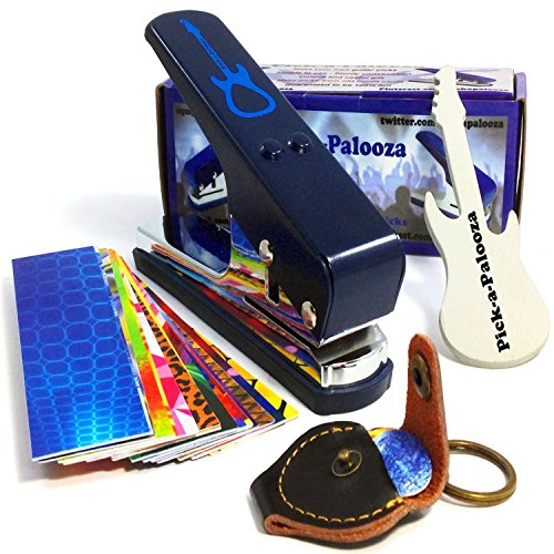Pick-a-Palooza DIY Guitar Pick Punch Mega Gift Pack - the Premium Pick Maker - Leather Key Chain...